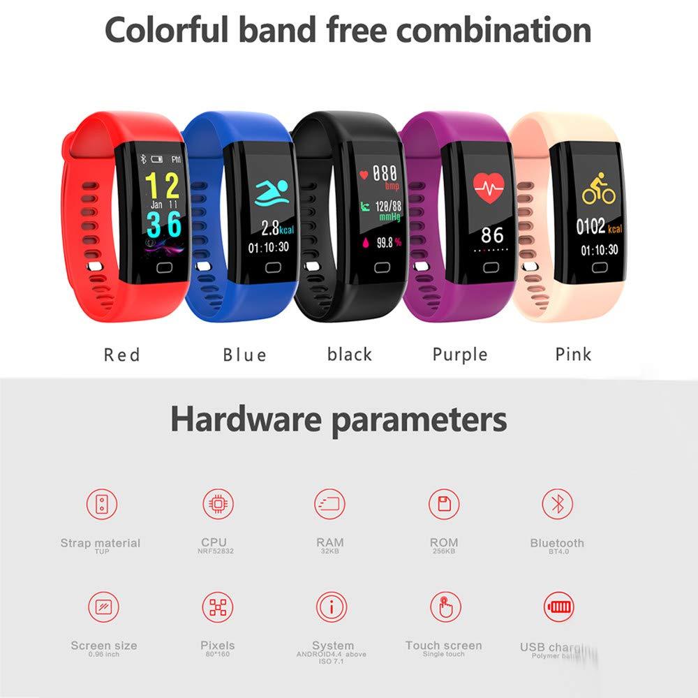 Cebbay Pulsera de Actividad Pulsera Inteligente Pantalla Color Reloj Impermeable IP68 con Monitor de Ritmo Cardíaco para Android iOS: Amazon.es: Electrónica