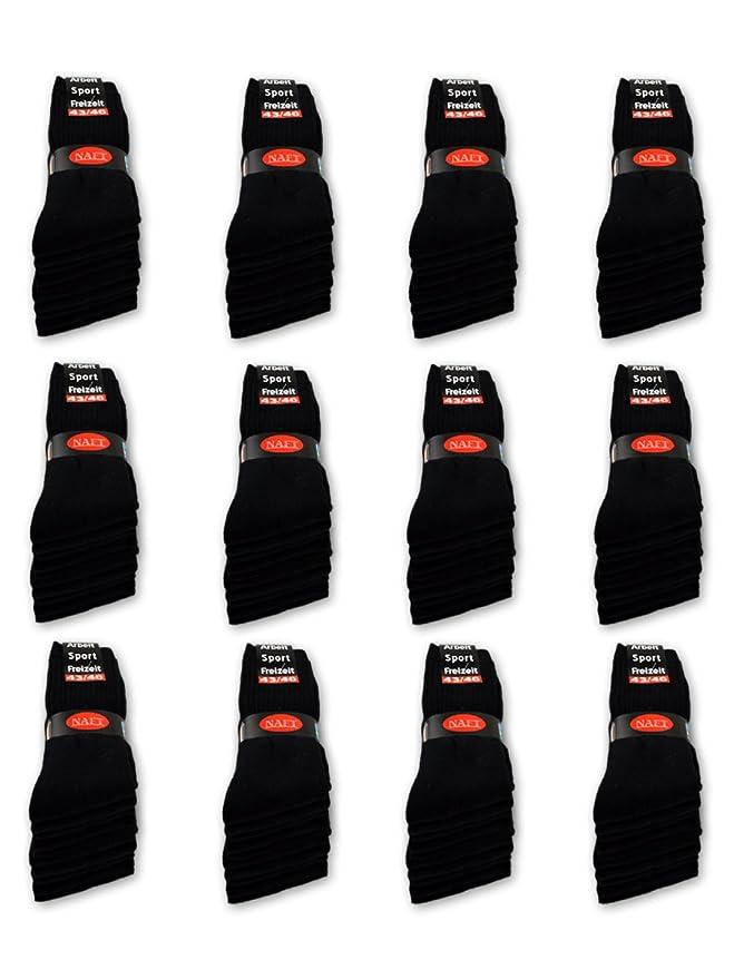 Calcetines de deporte 10 Paar para hombre Negro Schwarz sockenkauf24