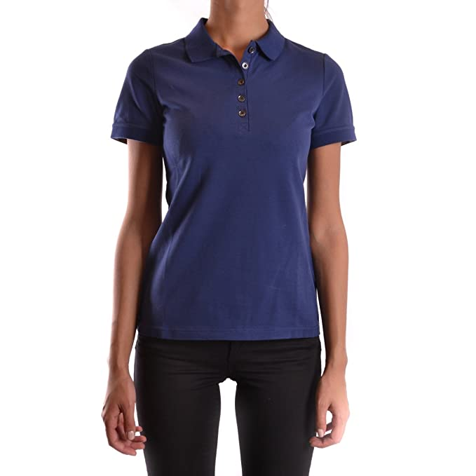 753bb5d9ed0a Burberry Brit Women s Check Sleeve New Core Polo Shirt in Mid Indigo   Amazon.ca  Clothing   Accessories