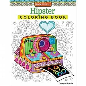 Design Originals Hipster Coloring Book Amazonmx