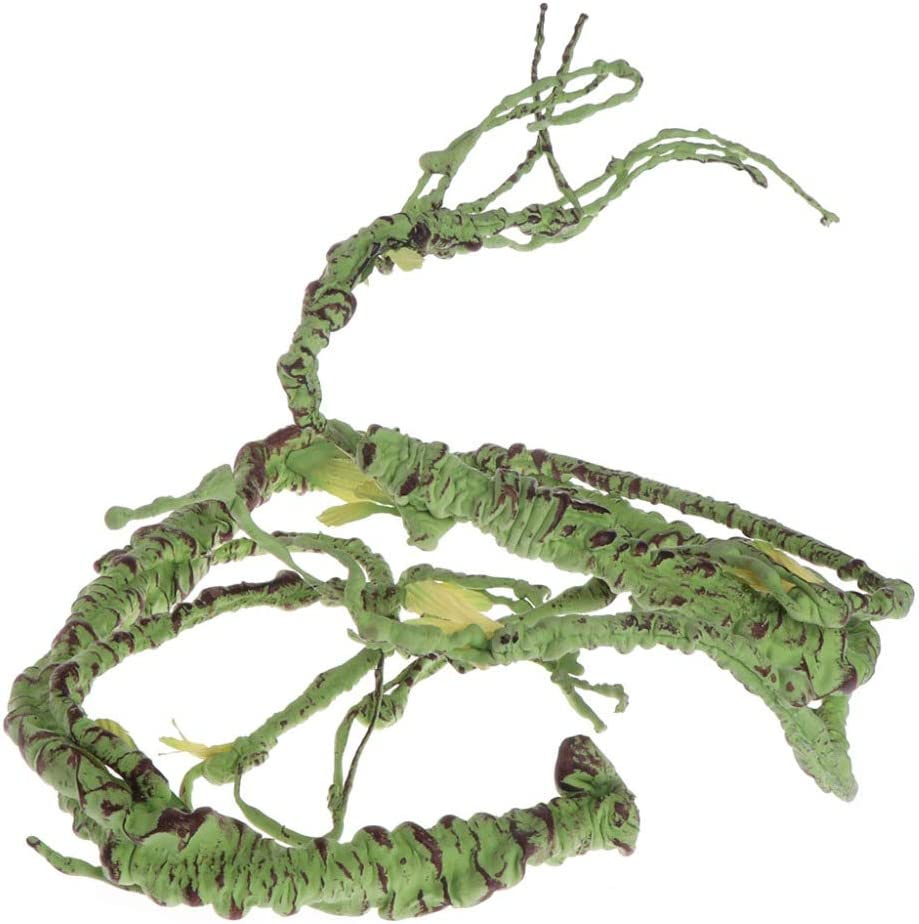 PIVBY Flexible Bend-A-Branch Jungle Vines Pet Habitat Decor Reptile Plants Terrarium for Lizard,Frogs, Snakes and More Reptiles Climbing (Fat:0.7943.31 Inch)
