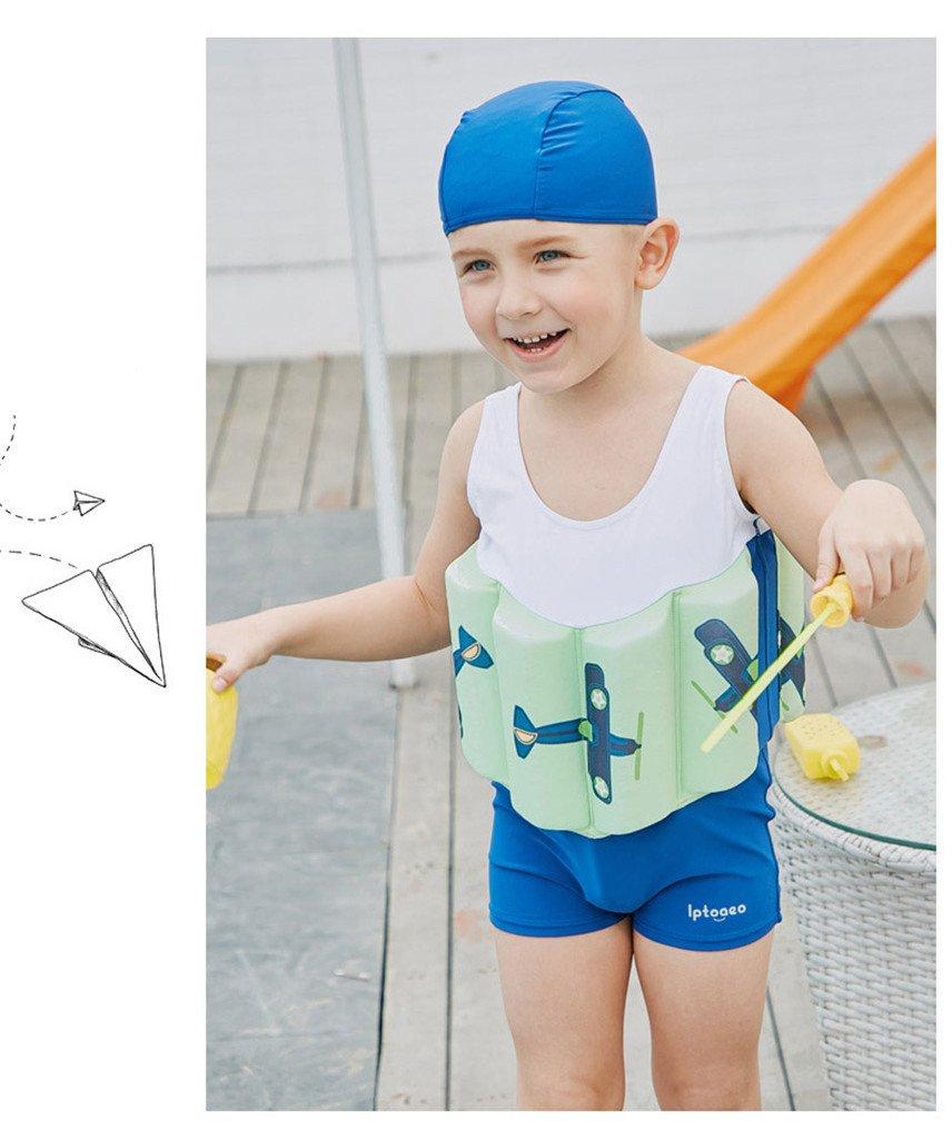 7c8b6879a9e8 Bébé Garçons Flottant Maillot de Bain - Combinaison Flottante et Bonnets de Bain  pour Enfants Apprendre à ...