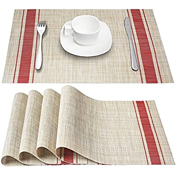 Hebe Placemats For Kitchen Table Washable Placemat