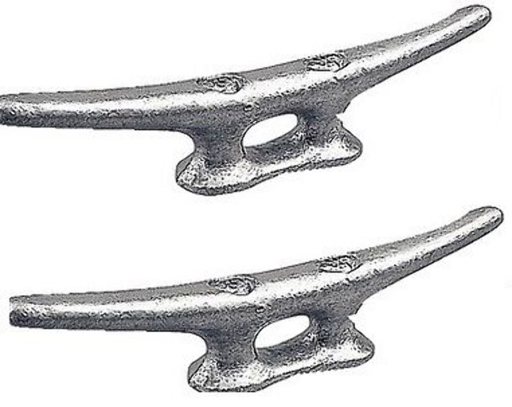 MARINE DOCK CLEAT 6'' GALVANIZED OPEN BASE BOAT 2 PACK