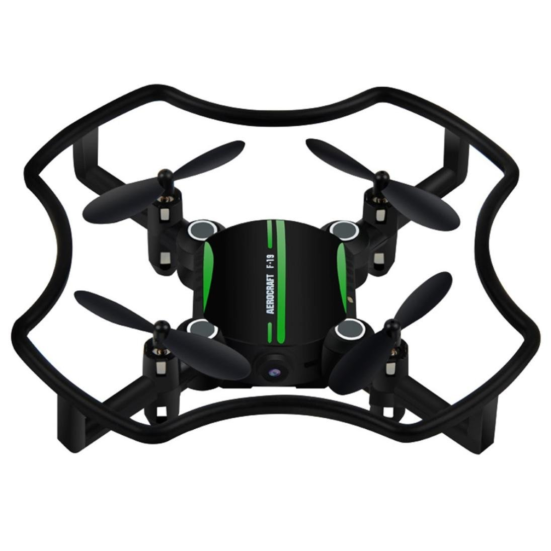 owill Mini Drone aititude Holdクアッドコプター2.4 G 4 CH 6軸RCヘリコプターwith LEDライト One Size グリーン OW112612GN B077R9VPSW グリーン グリーン