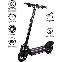 Lamtwheel Scooter électrique 600W 48V / 15Ah - Vitesse maximale 40 km/h, kilométrage 40 km - Noir