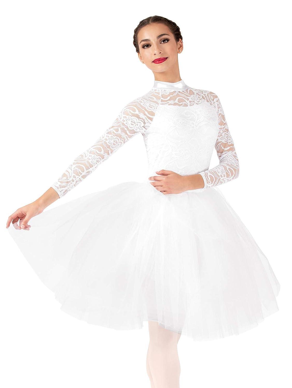 Womens Performance Lace Romantic Tutu Dress EL257