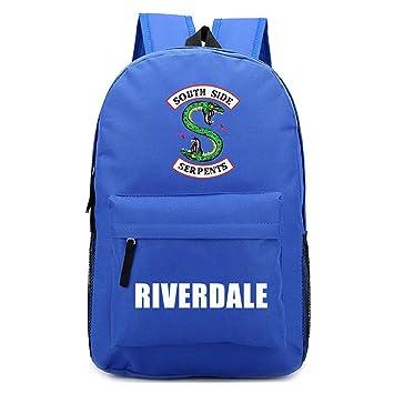 Amazon.com: 2018 For Riverdale Fan Backpack Harajuku American TV Backpack Idol Funny mochila for Teenager Canvas School season New Bag (blue1): OOHPA