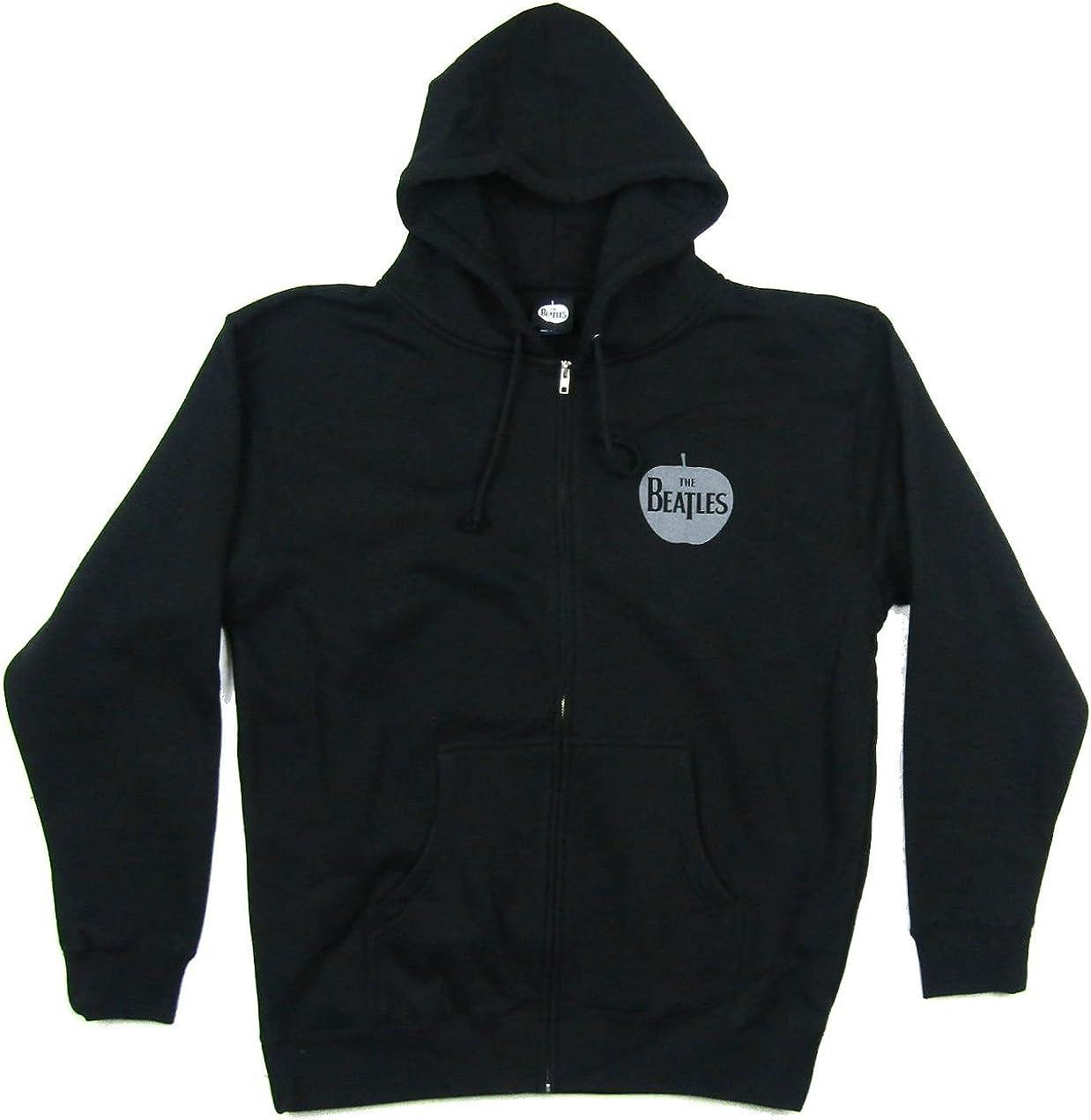 Beatles Apple Pocket Logo Black Zip Up Sweatshirt