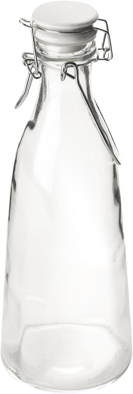 IBILI Botella de Leche 1 l de Vidrio, 7 x 7 x 30 cm