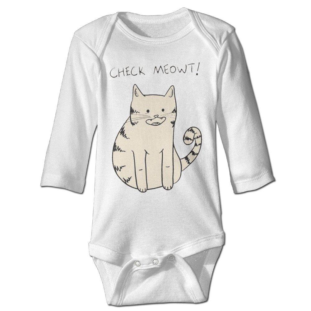 Funny Vintage Unisex Cute Cat Climb Clothes Romper Baby