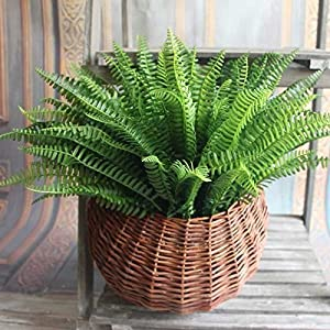 Ocamo Artificial Exquisite Large Silk Boston Fern Plant Green Grass Home Decoration 120