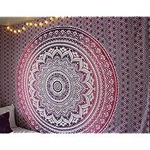 Large Mandala Tapestry, Purple Tapestry, Pink Tapestry, Orange Tapestry, Hippie Tapestry, Picnic Blanket, Wall Hanging, Boho Tapestries