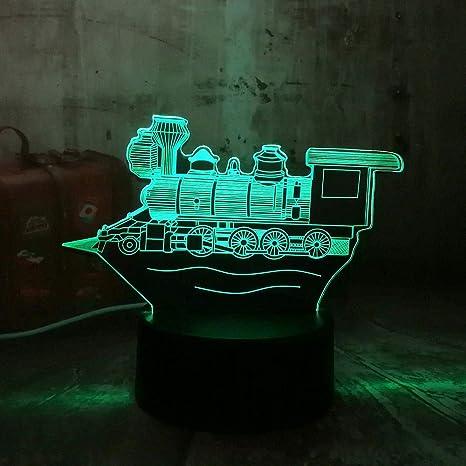 Lámpara de escritorio de la mesa de la ilusión óptica 3d de ...