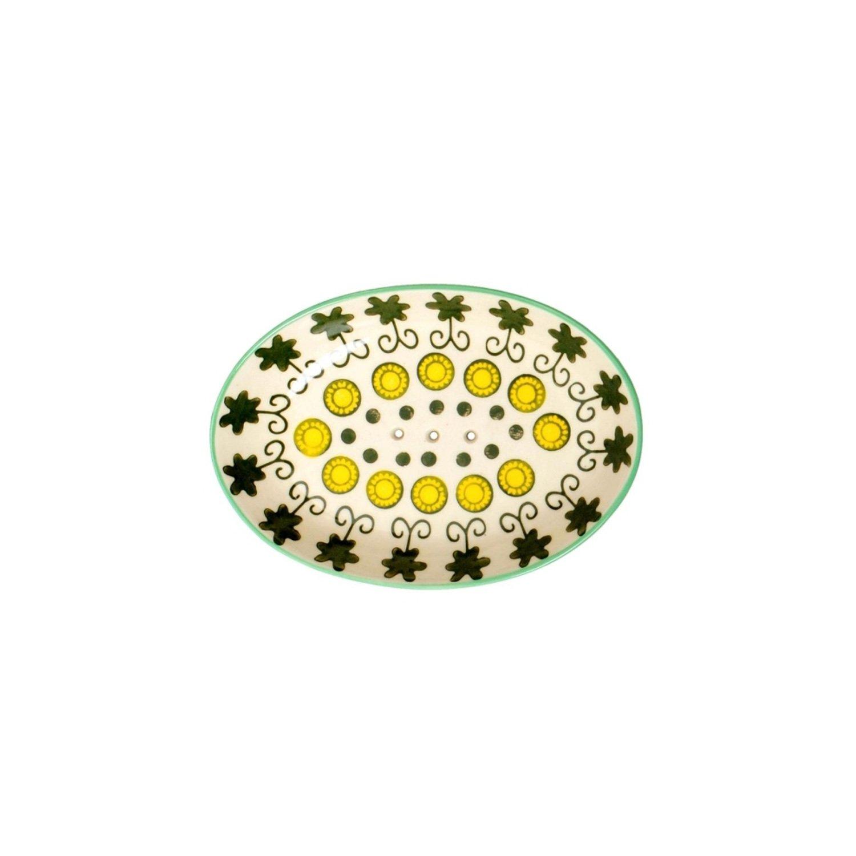 Tranquillo Portasapone Luna in ceramica con fori per l acqua di scarico 14/x 9,5/x 2/cm