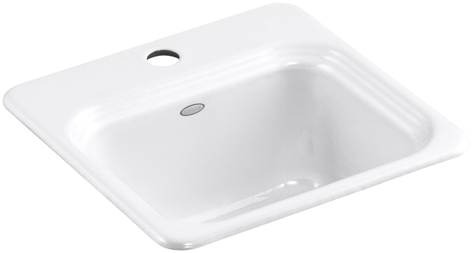 KOHLER K-6579-1-0 Northland Self-Rimming Entertainment Sink, White by Kohler