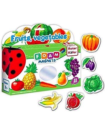 Imanes nevera para niños FRUTAS Y VEGETALES 32 piezas - Juguetes niños 2 años - Frutas