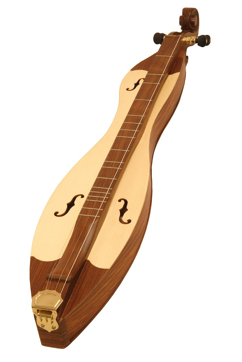 Roosebeck DMCRT4 4-String Cutaway Mountain Dulcimer, F-Hole Openings and Scrolled Pegbox