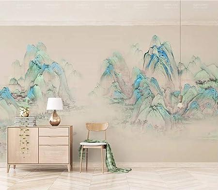 Papier Peint 3D Peinture /À LHuile Abstraite Bleu Mer Texture Dor/ée Le Salon Chambre Moderne Papier Peint Intiss/é D/écoration Murale