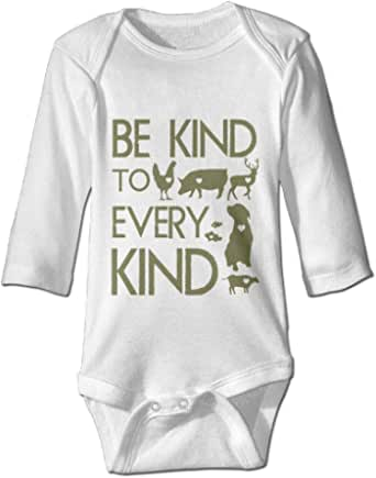 Be Kind to Every Kind Vegan Vegetarian - Baby Bodysuit Rompers Infant Clothes