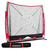 Rukket 5x5 Baseball & Softball Net | Practice Hitting, Pitching, Batting and Catching | Backstop Screen Equipment Training Aids | Strike Zone Target (5x5 Net + Target)