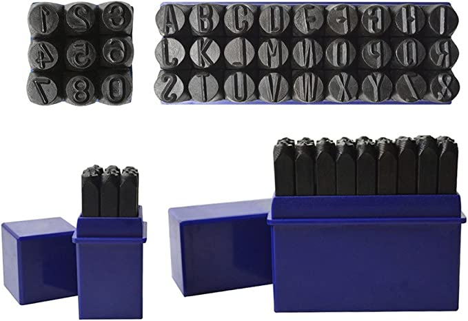 HimaPro 5//16 Inch 8mm Letter and Number Stamp Steel Metal Set 36pcs 40Cr Alloy