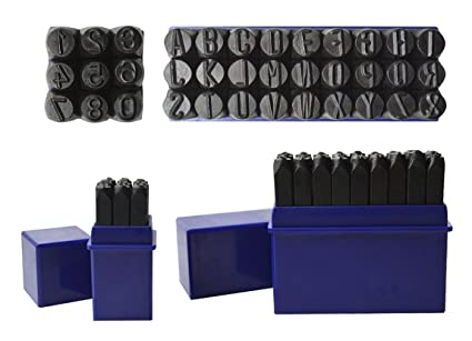 Amazon Com 36 Pc 5 16 8 Mm Steel Stamps Punch Set For
