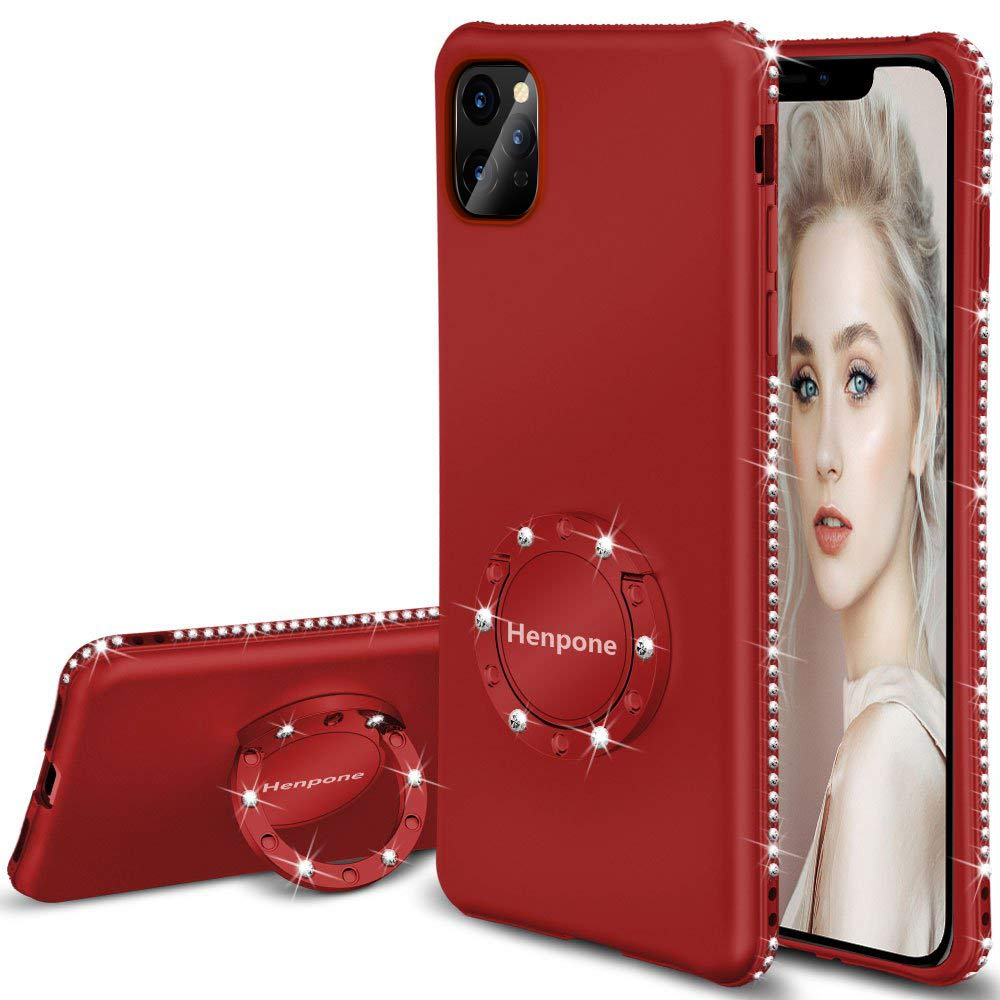 Funda Iphone 11 Pro Max Glitter Con Pie HENPONE [7WP4DYS9]