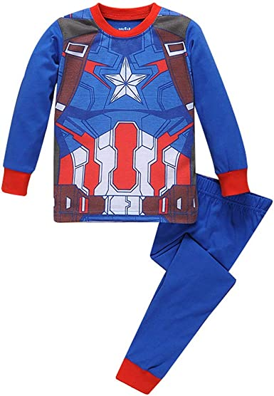 Elakaka Spiderman Pajamas,Sspiderman Homecoming Costume Kid Cotton Cartoon Sleepwears