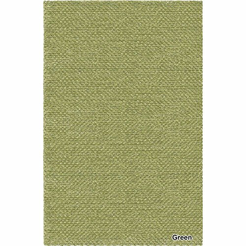Artist's Loom Hand-Woven Contemporary Solid Pattern Shag Rug (7'9