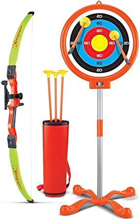 Soft Sucker Arrow Weego Bow and Arrow Set for Kids Toy Archery Set with Target Stand