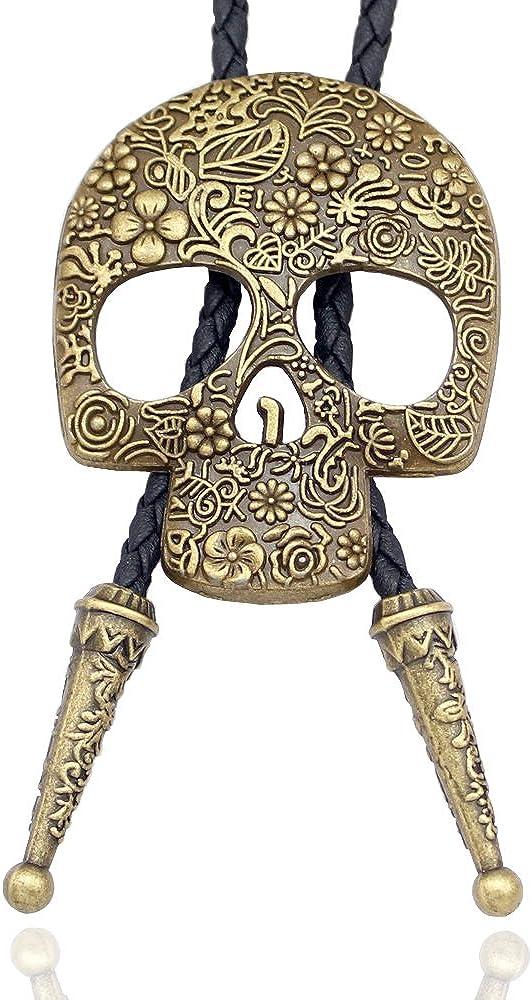 Q/&Q Fashion Vintage Cowboy Hat Stetson Black Leather Rodeo Western Bolo Bola Tie Necktie Line Dance