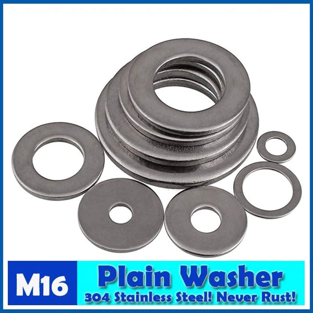Size : 16X20X1 X 30 PCS Zyj stores Flat Washers 16mm Hole Plain Washers 304 Stainless Steel Flat Machine Washer Plain Washer Stainless Flat Washer
