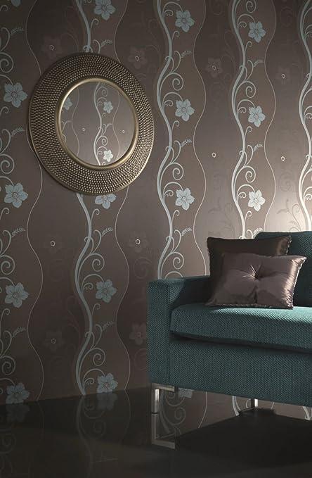 arthouse rhythm motif chocolate & teal