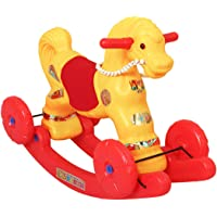 Toydirect 2 in 1 Baby Horse Rider for Kids 1-5 Years Birthday Gift for Kids/Boys/Girls (Yellow)