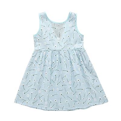 8 Pattern Baby Girls Tank Skirts Kids Summer Printing Vest Dress Sleeveless Shirts