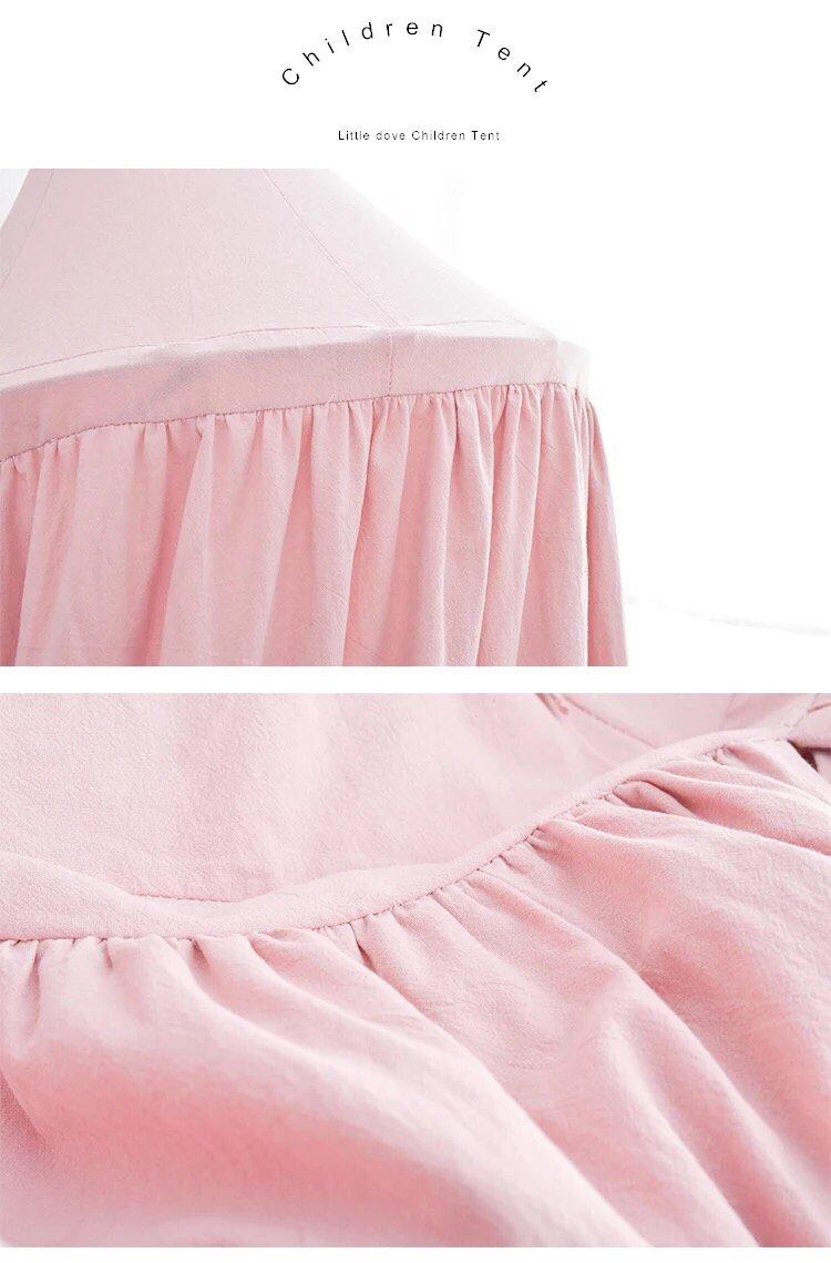 Vorhang Bett-//Schlafzimmerdekoration Spiel- und Lesezelt f/ür innen und au/ßen Baumwolle Little dove Betthimmel f/ür Kinder//Babys Moskitonetz zum Aufh/ängen H/öhe 230 cm blau Insektenschutz