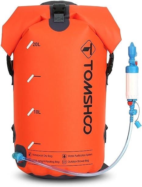 TOMSHOO Bolsa Seca Impermeable Purificador de Agua Salvavidas ...