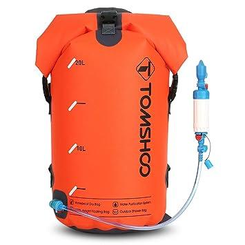 TOMSHOO Bolsa Seca Impermeable Purificador de Agua Salvavidas Flotador Plegable Ideal para Piragüismo Viajes Navegación en