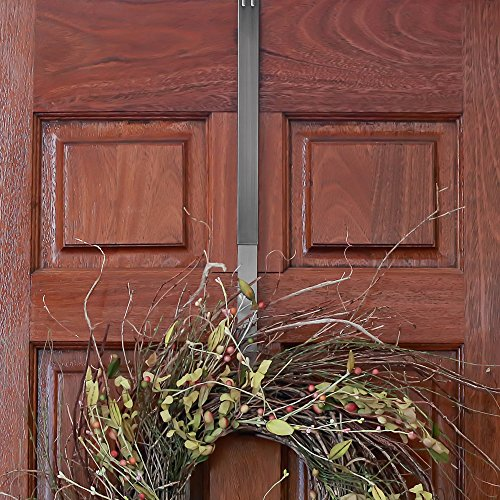 Adjustable Length Wreath Hanger, 20 lb Capacity (Brushed Nickel) by Haute Decor (Image #7)