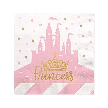 Amazon.com: Servilletas y platos de princesa pequeña corona ...