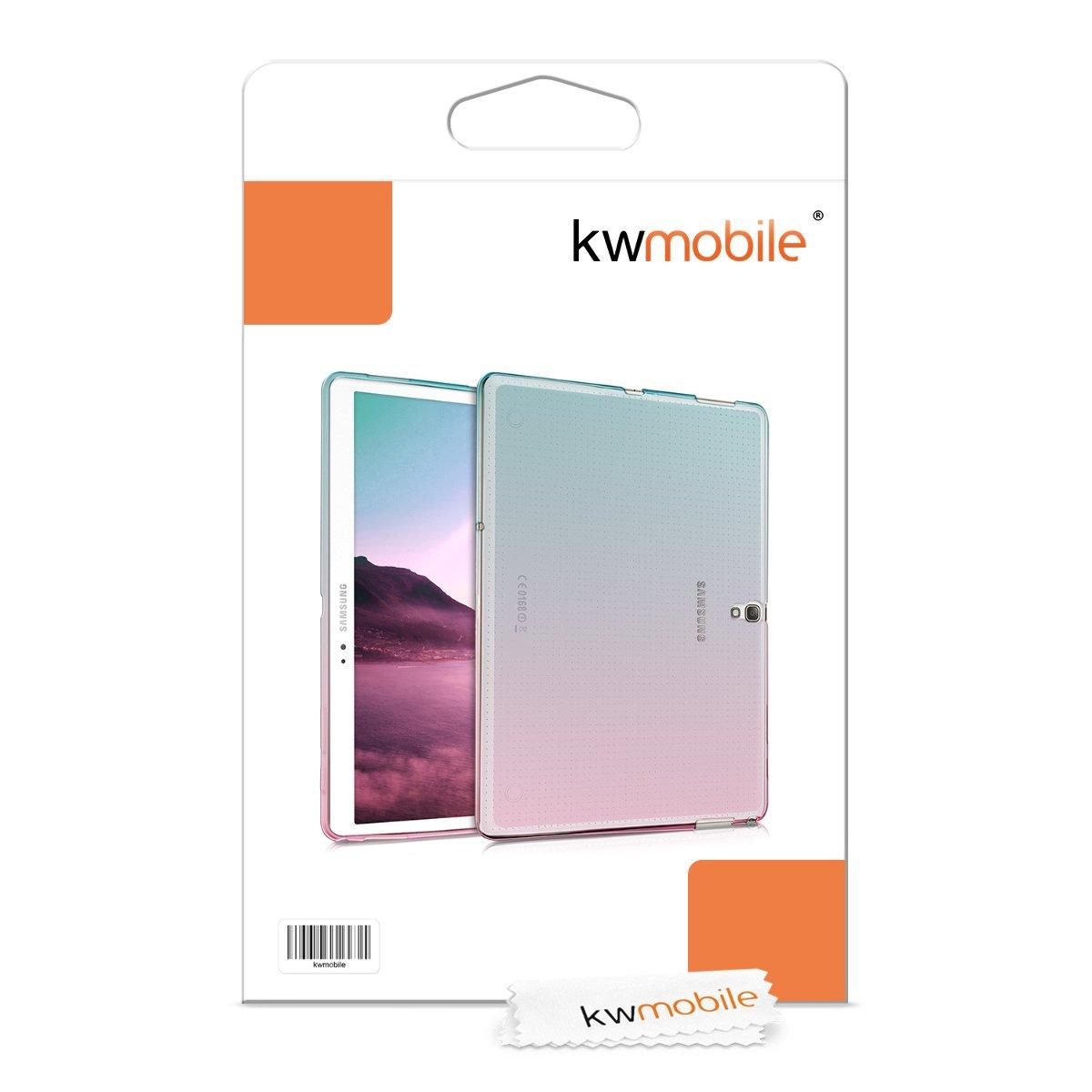 para Tablet de Trasera Rosa Fucsia//Azul//Transparente - Cover en kwmobile Funda para Samsung Galaxy Tab S 10.5 T800 // T805 Silicona TPU Carcasa