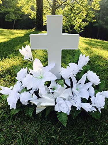 Eternal Light Cross Solar Powered Cemetery Grave Decoration