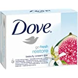 Dove Go Fresh Restore Beauty Cream Bar with 1/4 Moisturising Cream Twin Pack (2 x 100g)