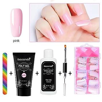 Surenhap Kit de Esmaltes de Uñas Semipermanentes para Regalo de Uñas de Gel de Colores - Poly ...
