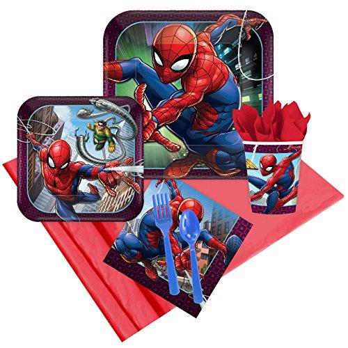(BirthdayExpress Spiderman Webbed Wonder 16 Guest Party)