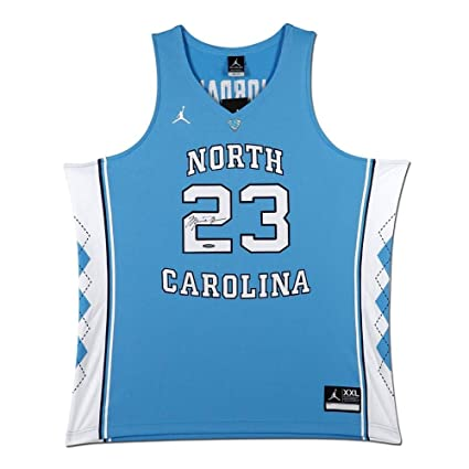 2c57a5a98ace Michael Jordan Signed Autographed North Carolina Blue Jersey UNC Bulls UDA