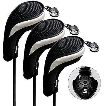 Andux 3 piezas funda de palo de golf híbridos con ...
