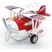 Joy-Fun Regalo de cumpleaños Avión de niños Modelos Mini Alloy Airplane Toy Biplane Decoraciones para el hogar, Vendimia, Juguetes Regalo de niñas JF-UK-Plane Rojo
