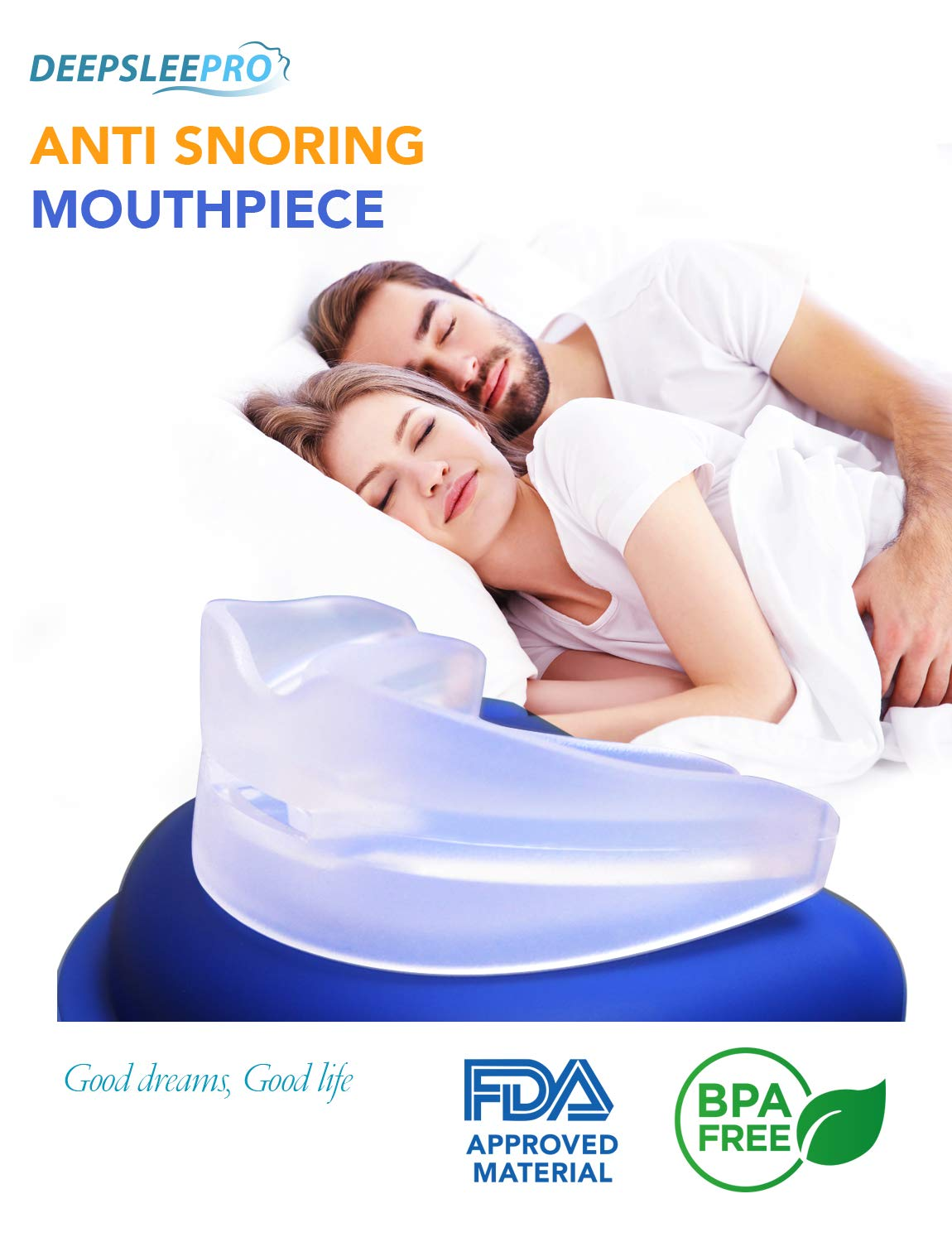 Tomiya - Snore Stopper Mouthpiece - Snoring Solution, Sleep Aid Night Mouth Guard Bruxism Mouthpiece